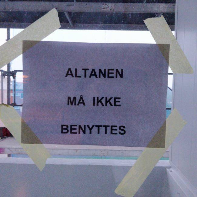 Altanen må ikke benyttes